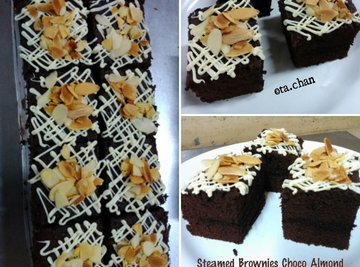Steamed Brownies Choco Almond By Ta.Chan