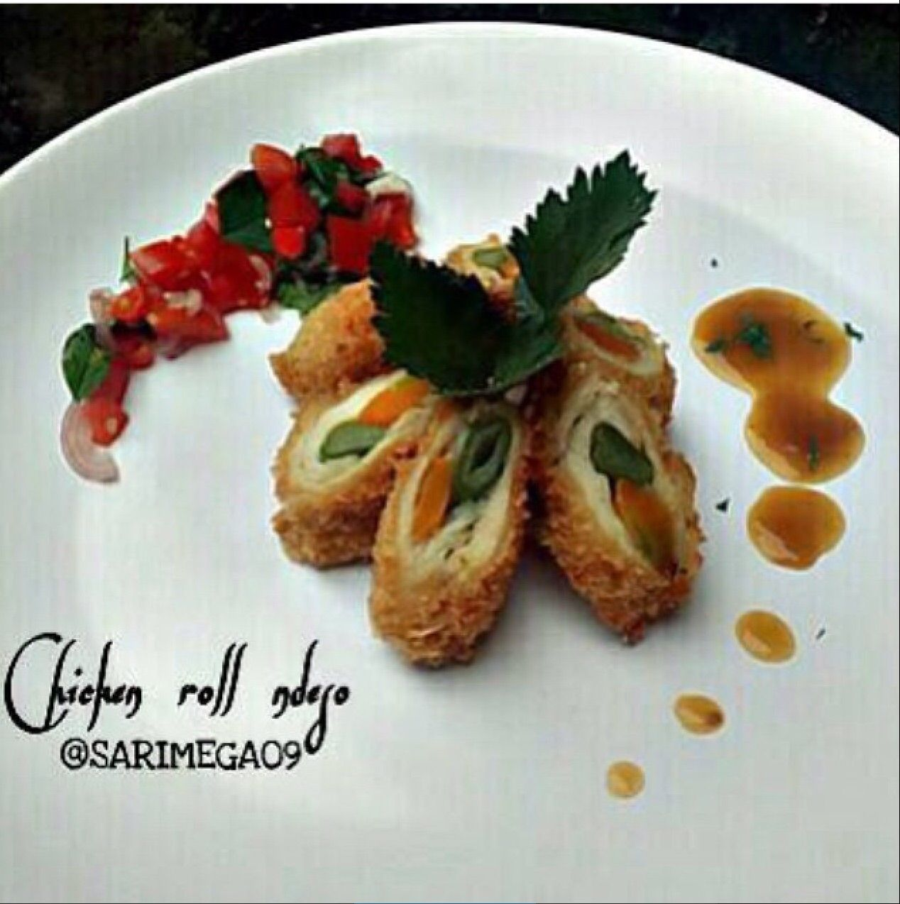 Chicken Roll Ndeso By @Sarimega09