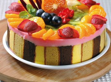 Fruity Cake Pudding